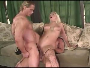 Blonde Slut In DP Threesome