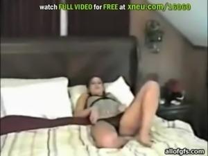 Amateur Brunette Swallows A Stiff Boner In Homemade Video free