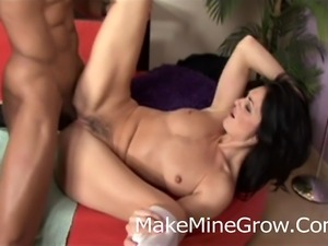 Hot Brunette Lake Rusell  Fucked By A Black Cock