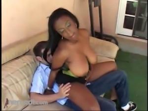 Ms Panther Takes On White Dick BBW free