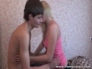 Blonde teeny taking balls deep free