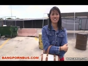 Asian Sensation With Nice Tits Rides The BangBus free