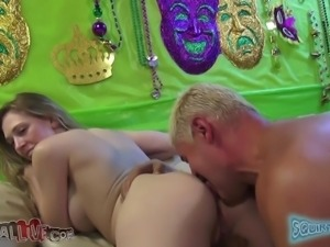 cuttie blonde with perfect ass rides a cock