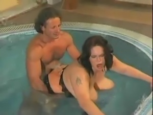Beauty plump mom with great boobs & guy.