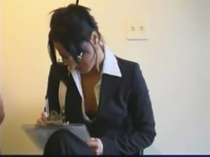 Lee Stone ravages Sandra Romain hard in his office! free