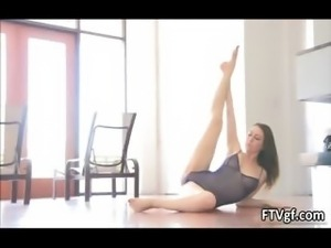 Sensual and flexible american gymnast