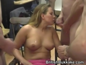 Two busty ladies service guys by cocksucking free