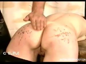 Young skinny girl bends over and sticks a dick in her mouth. The guy beats...