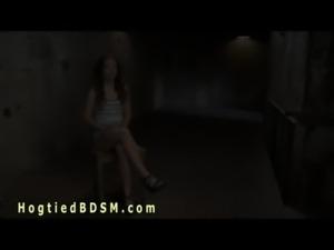 Hispanic babe in unforgiving bondage free