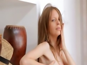 Small tits of skinny super girl