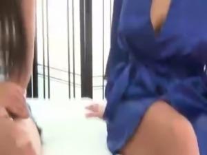 Naughty lesbo massage gets free