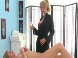 Sexy lesbo babe massage fetish free