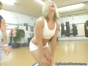 Sexy blonde babe gets horny showing off part6