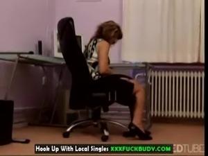Mature secretary banged hard free