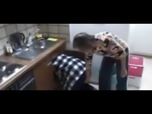 Horny German mother and daughter fuck the plumber