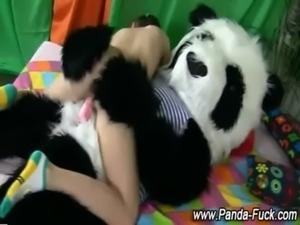 Weird fetish toy plush panda free