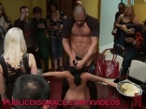 Slut Gets Deepthroated at Party free