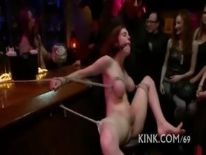 Sexy babe bound free