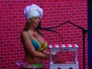 topless chef makes wieners on the morning show