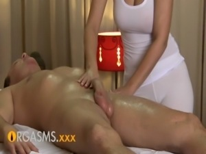ORGASMS HD Sexy massage from cute busty brunette woman free