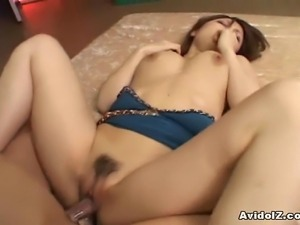 This Japanese babe love cocks and to prove it, she starts to sucks 2 at the...