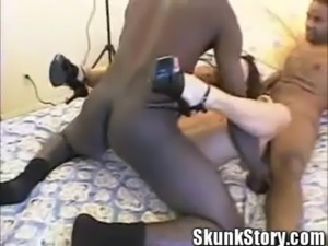 Big Titty Brunette  Bianca Banged by Two Big Black Cock free