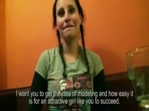 Cute amateur Czech girl Petty Cat asshole banged for money free