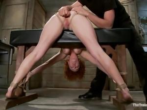 redhead mom gets her pussy massaged hard