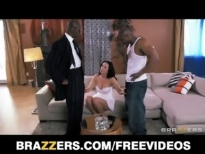 Juicy brunette pornstar Jayden Jaymes daydreams about a gangbang free