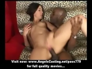 Brunette schoolgirl does blowjob for black guy and gets fucked hard free