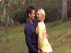 Cute real oz blonde fingered free
