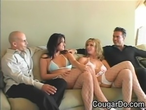 Two hot bitches get their pussies banged by big white cocks free