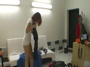 Hot striptease by czech redhead teen free
