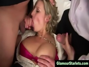 Horny stockings clothed glam bitch free