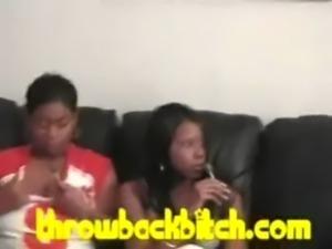 Sluts mix pussy and ghetto koolaid to fuck crook free