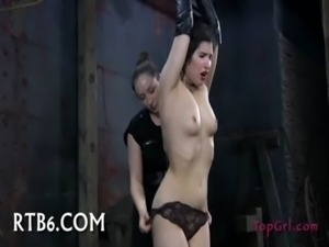 Hot girl gets tied hard free