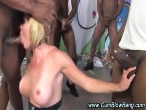Interracial black cock sucking slut free