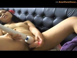 Cute teen masturbating in front of cam