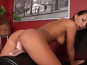 This brunette diva looks fascinating and now she is going to relax with her...