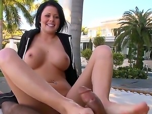 Brunette Loni - the smart girl with pretty, sexy face and gorgeous, elegant feet