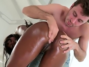 James Deen gets to fuck  Sierra Banxxxx,a hot  ebony with an amazingly tight...