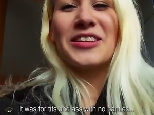 Yenna is a slutty blonde who willingly demonstrates us her small natural...