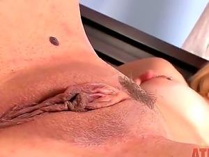 Blonde Courtney Shae loves feeling her soft clit and masturbate inside her...
