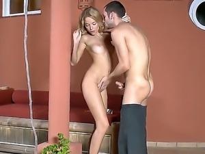 Nadin loves hardcore sex and her handsome boyfriend is always glad to drill...