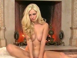 Adorable stunning blonde Danielle Trixie wtih natural knockers and tight body...