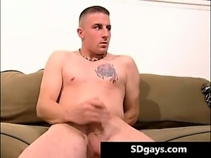 Horny tattooed stud Brandon pulling part3
