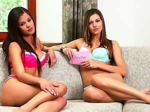 Welcome to the dirty lesbian interview with glamourous and sweet babe Caprice