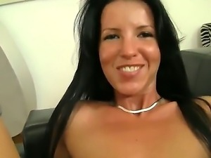Brunette hottie Jaine M is horny and loves to rub and suck Rocco Siffredis...