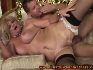 GILF amateur blonde slammed and rimmed and she moans like crazy