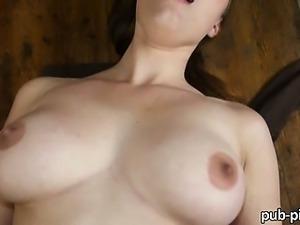 Czech slut Helen flashes then public sex